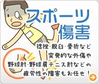 神戸市西区ライフポート整骨院のスポーツ障害「捻挫・脱臼・骨折など突発的な外傷や野球肘・野球肩・テニス肘など疲労性の障害までお気軽に」