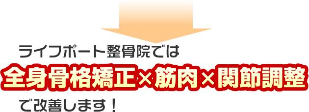 神戸市西区ライフポート整体・整骨院は全身骨格矯正と関節調整で改善